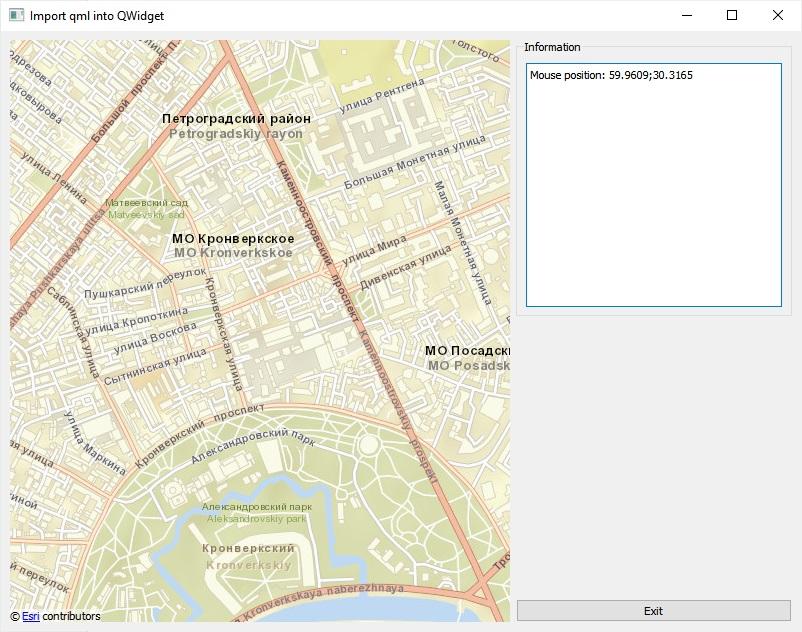 Qt and QML maps